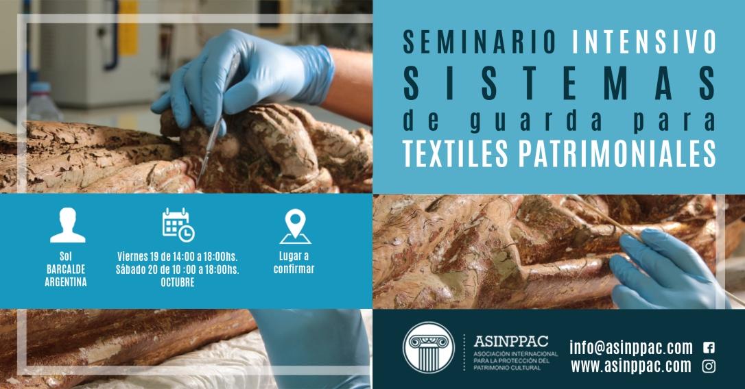 Seminario Intensivo - Sistemas de guarda para textiles patrimoniales